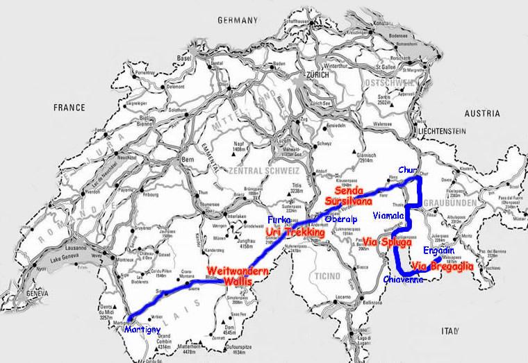 karte der alpen
