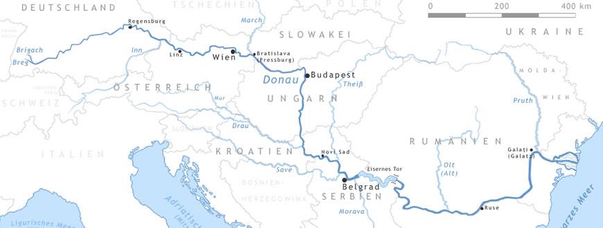 Donauradweg Ulm Passau Karte.Donau Radweg Passau Wien Bratislava Budapest