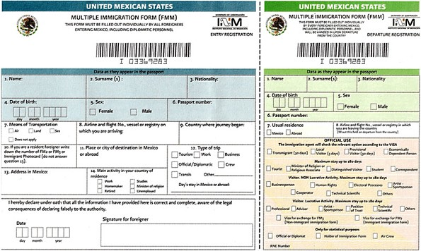 Einreisebedingungen Mexiko