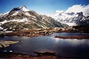 Grimsel mountain pass Bernese Alps